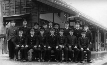 姫新線久世駅1955年前後