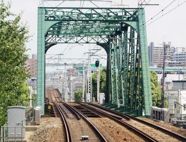 阪急宝塚線国道176号跨道橋牛立跨道橋
