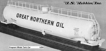 US Hobbies Pregnant Whale Tank Car