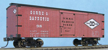 No. 98 boxcar of John Allen's Gorre and Daphetid Railroad