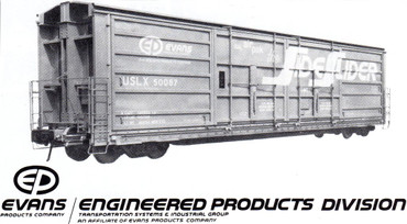 Evans Side-Slider all-door boxcar USLX 50087 Air Pak