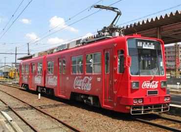 福井鉄道880型888-889コカコーラ色