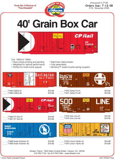 Athearnbulletin0608rtr40grainboxcar