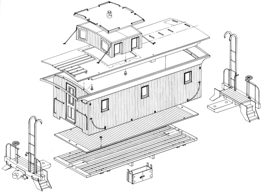DM&IR Wood Caboose