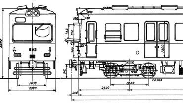 京阪500型図面