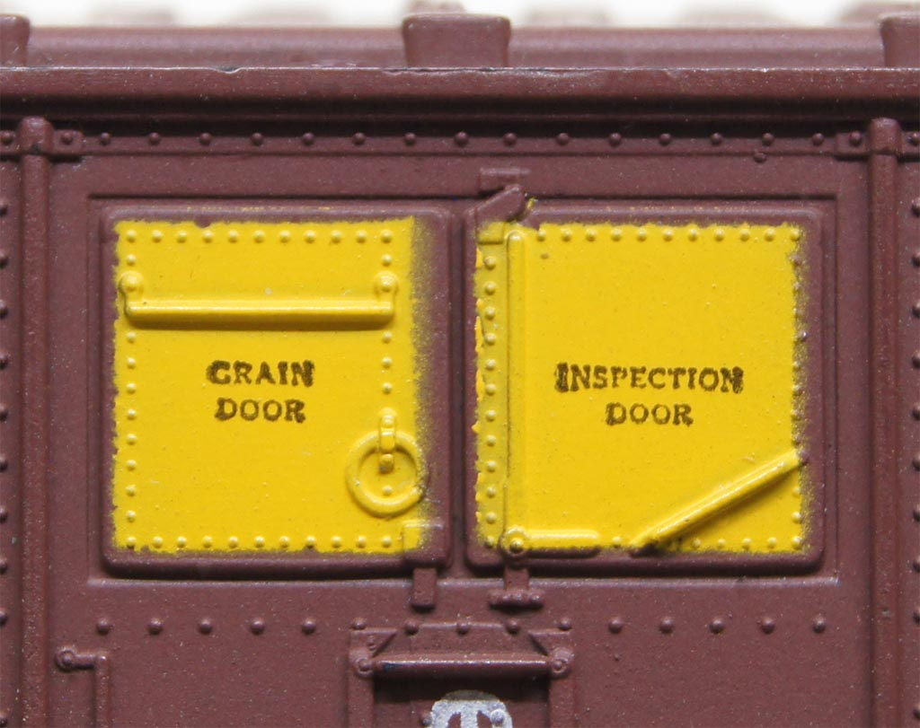 Two grain doors on Soo Line boxcar